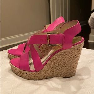 Michael Kors buckle wedges